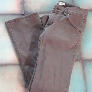 CAbi brown/taupe bootcut jeans